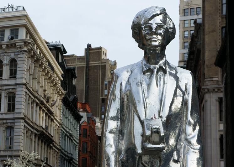 Andy Warhol Statue Union Square