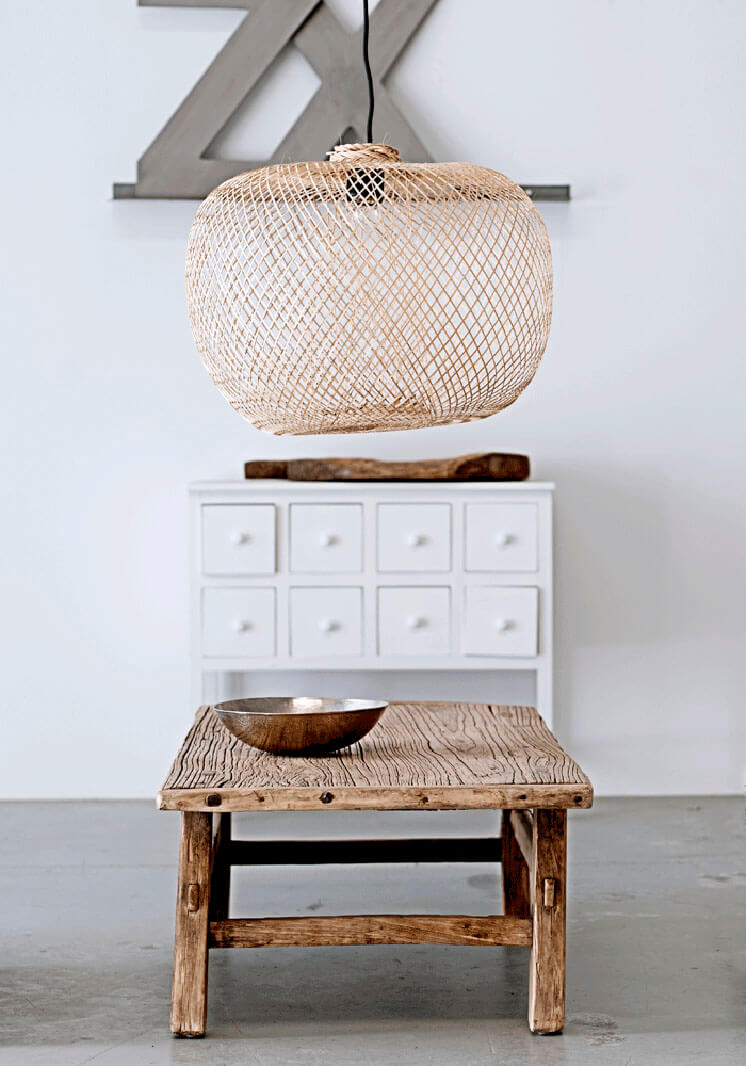 Bodie and Fou Bamboo Pendant Wooden Stool Est Magazine