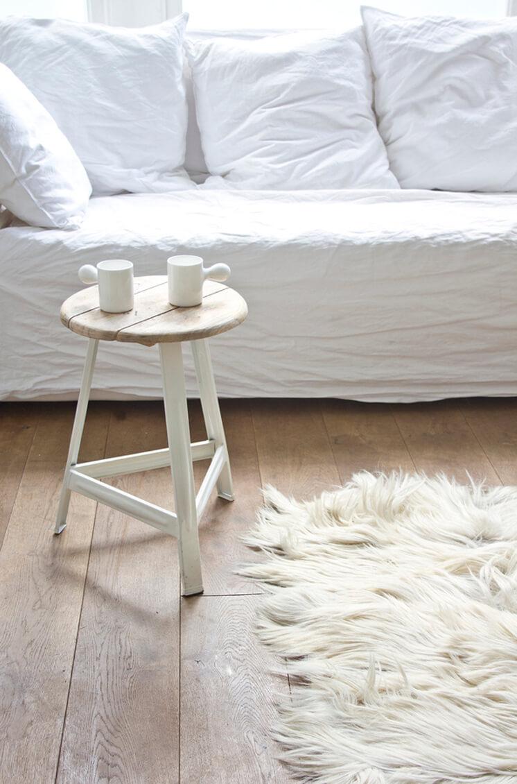 Bodie and Fou Wooden White Stool Est Magazine