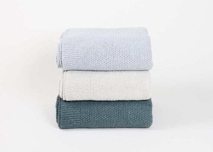 By Mölle Recycled Denim Throw Blankets Est Magazine