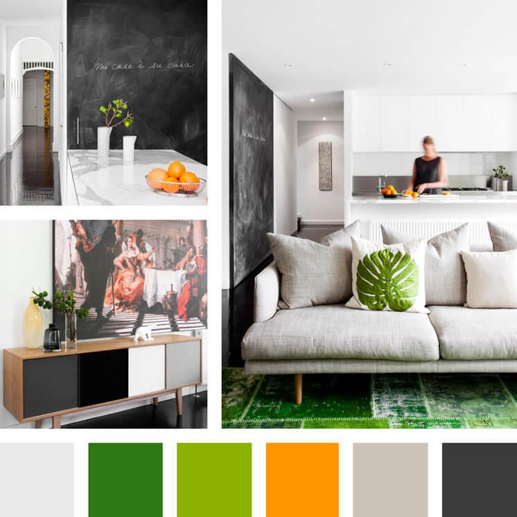 Chalkboard black green and orange PHOTO Georgie Skinner Est Magazine