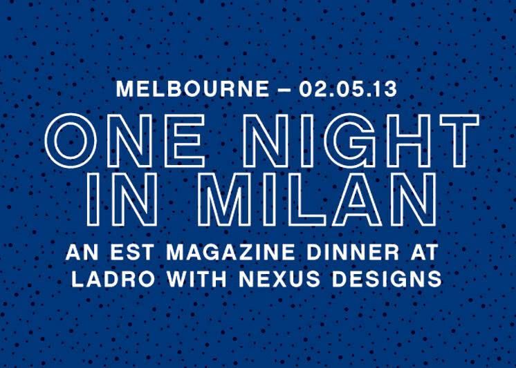 One Night In Milan | Est Reader Dinner