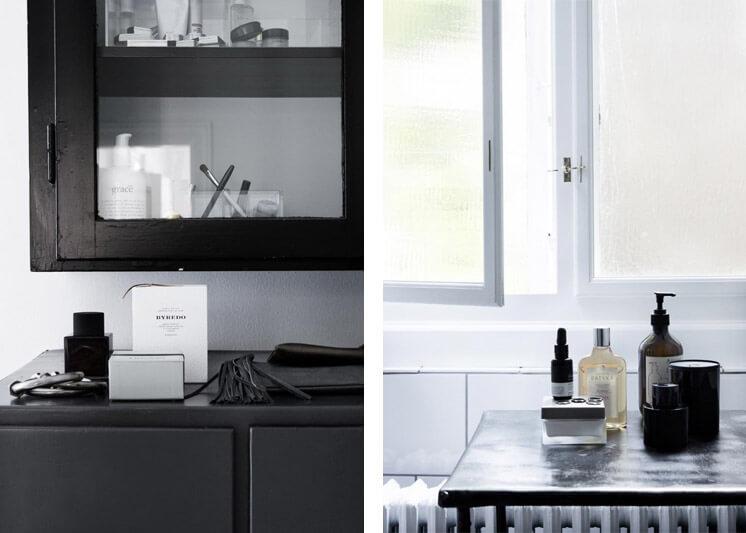 Black and white details Yvonne Kone Home © Line Klein for Elle Decoration Est Magazine