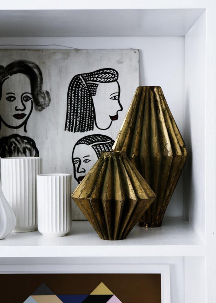 Bronze Ornaments Yvonne Kone Home © Line Klein for Elle Decoration Est Magazine