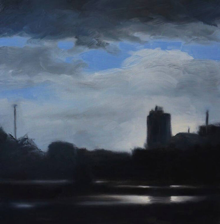 Silo 50 x 50 oil on canvas Darren Gannon Est Magazine