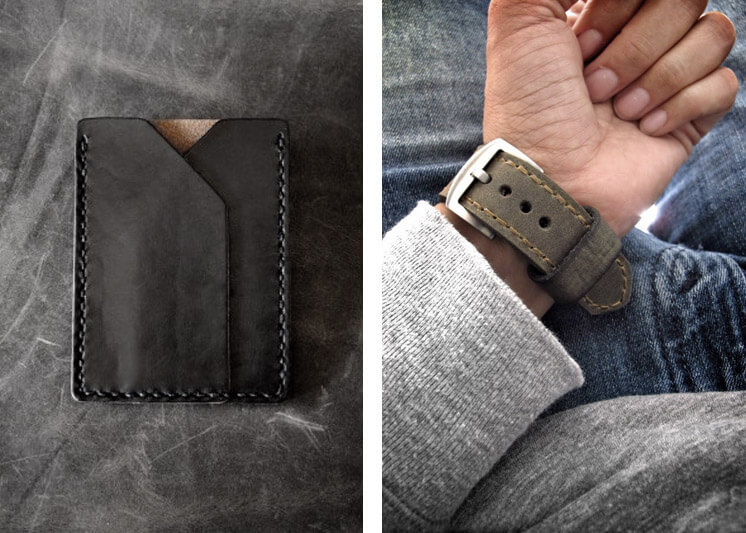 Bas and Lokes Rex leather slim wallet Est Magazine