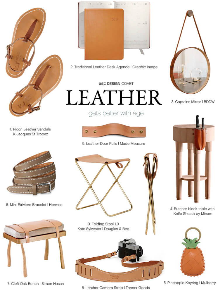 Design Covet Leather gets better with age Est Magazine