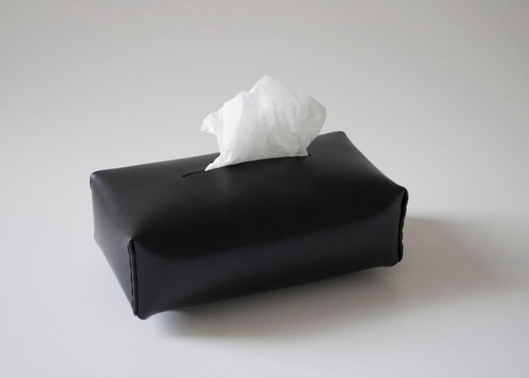 Michael Verheyden Niez black leather tissue box Est Magazine