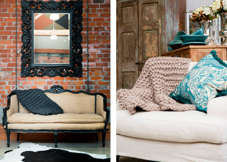 Milo and Mitzy Charcoal chunky knit blankets Est Magazine