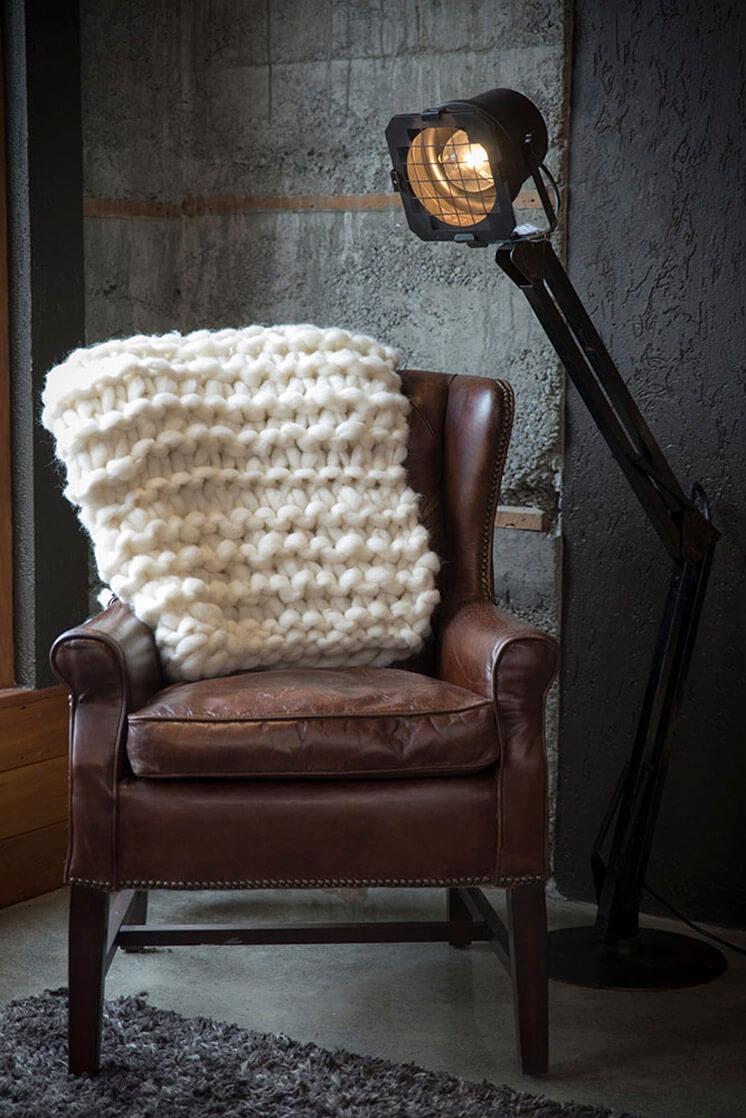Milo and Mitzy Fawn Chunky knit blanket Est Magazine