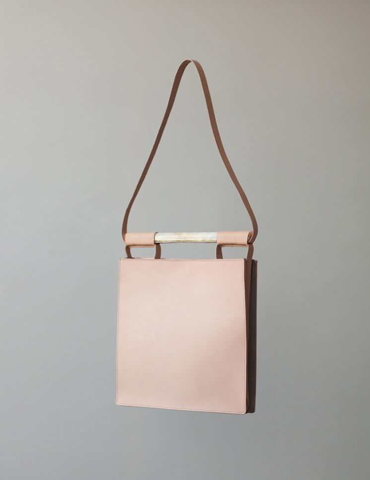 Chiyome Squared Bag Nude Leather Marble Brass Est Magazine