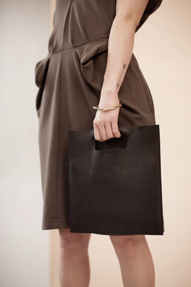 Chiyome iPad Sleeve Brown Leather Est Magazine