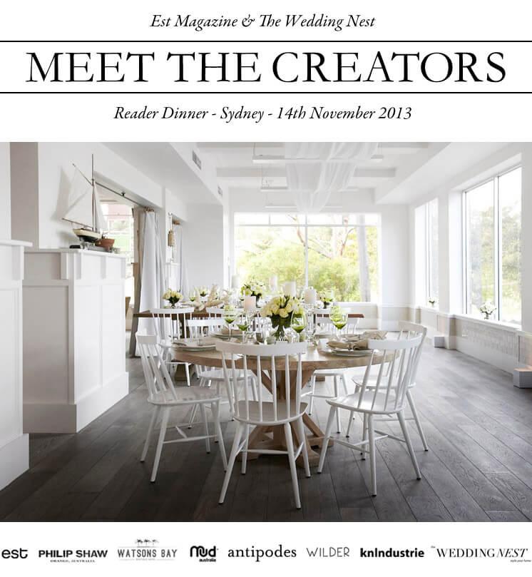 Est Magazine and The Wedding Nest Reader Dinner Watsons Bay Boutique Hotel