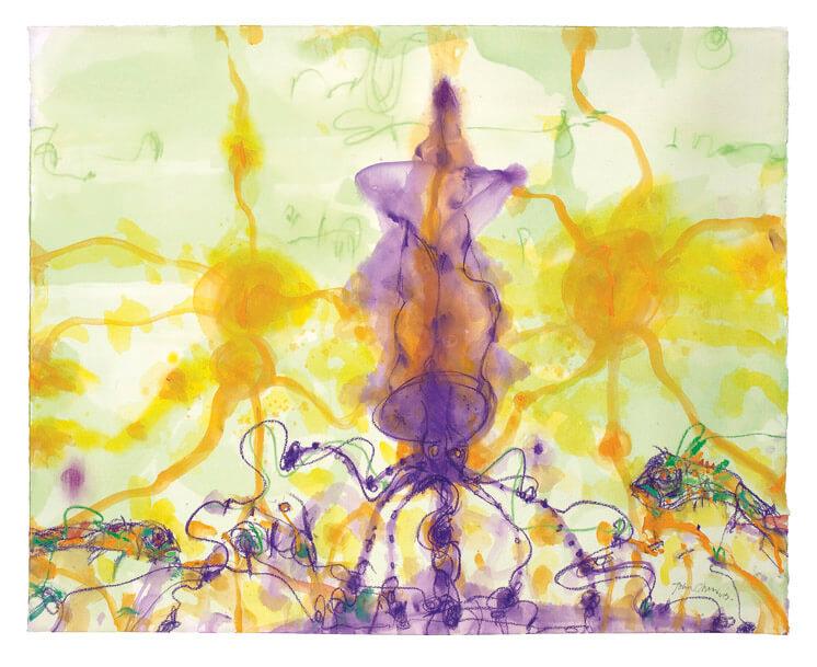 John Olsen Squid in its own ink Est Magazine1