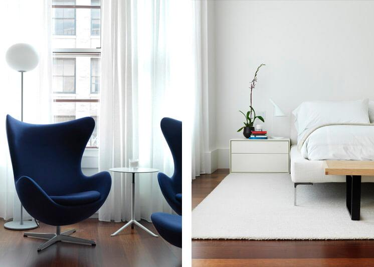Nexus Tribeca Loft Apartment Bedroom and Eames Est Magazine