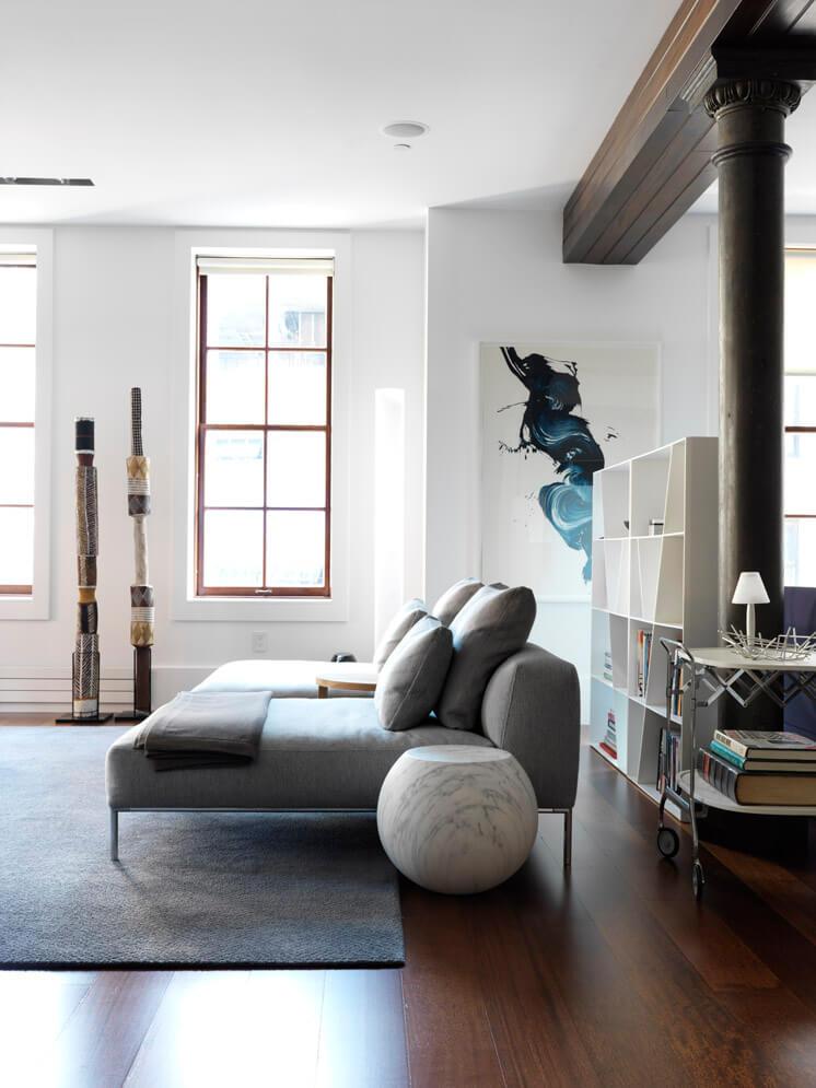 Nexus Tribeca Loft Apartment Living Room 03 Est Magazine