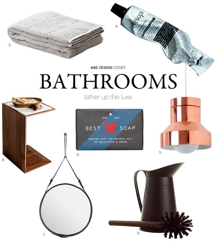 Design Covet Bathrooms lather up the luxe Est Magazine