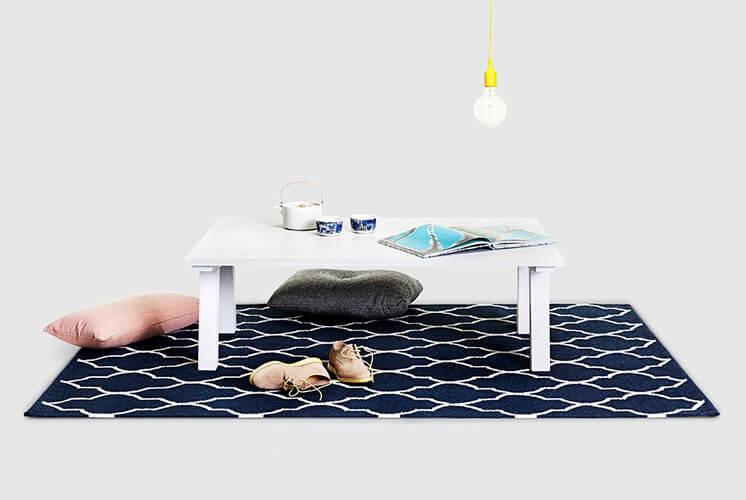 Dove White Coffee Table Nomi © Tessa Ross Phelan Est Magazine