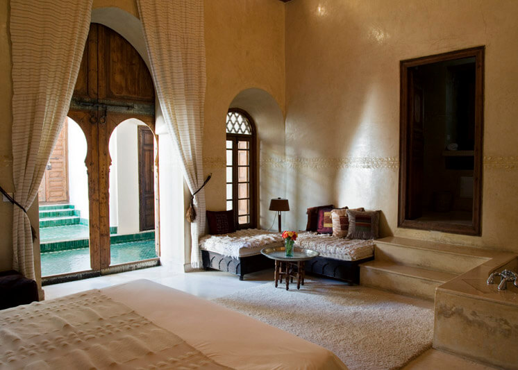 Mr and Mrs Smith El Fenn Marrakech Morocco Colonnade Room