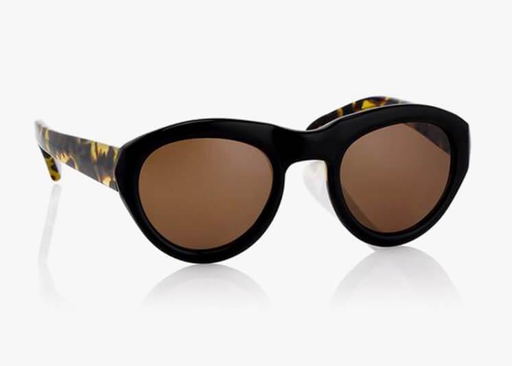 Linda Farrow for Dries Van Noten round lense sunglasses Bassike Est Magazine