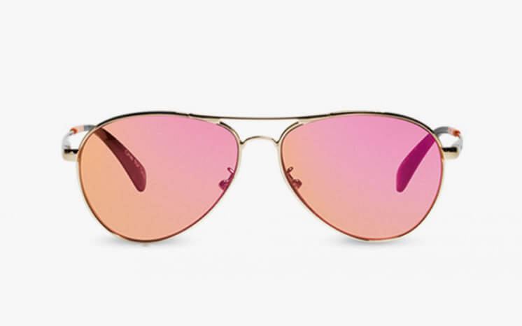 TOMS Kilgore Rose Gold Mirror Sunglasses Est Magazine