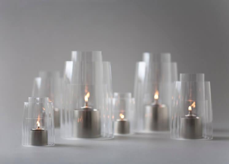 Collaboration Deborah Ehrlich Hurricane Lanterns Satin NIckel
