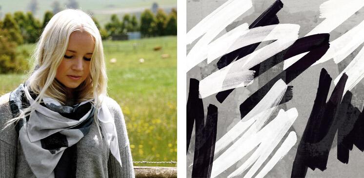 Grafitti Silk Cotton Scarf Pippa Oostergetel Squeak Est Magazine