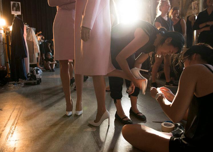 BT Runway For Success 2014 BT Emerging Fashion Designer Award Winner Michael Lo Sordo Backstage Est Magazine
