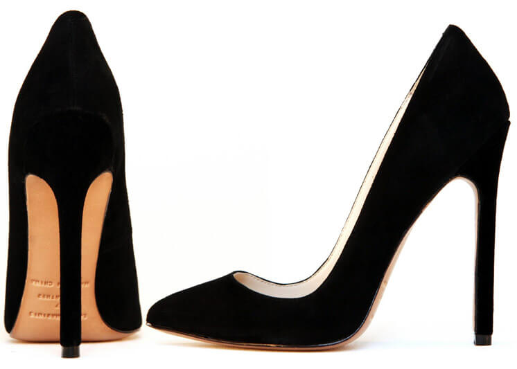 Gilda Black Leather Pump Heel Lauren Martinis Est Magazine