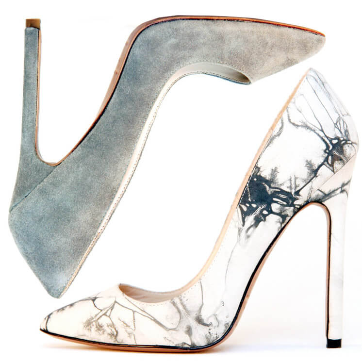 Gilda Dusty Grey and Tie Dye Pump Heel Lauren Martinis Est Magazine