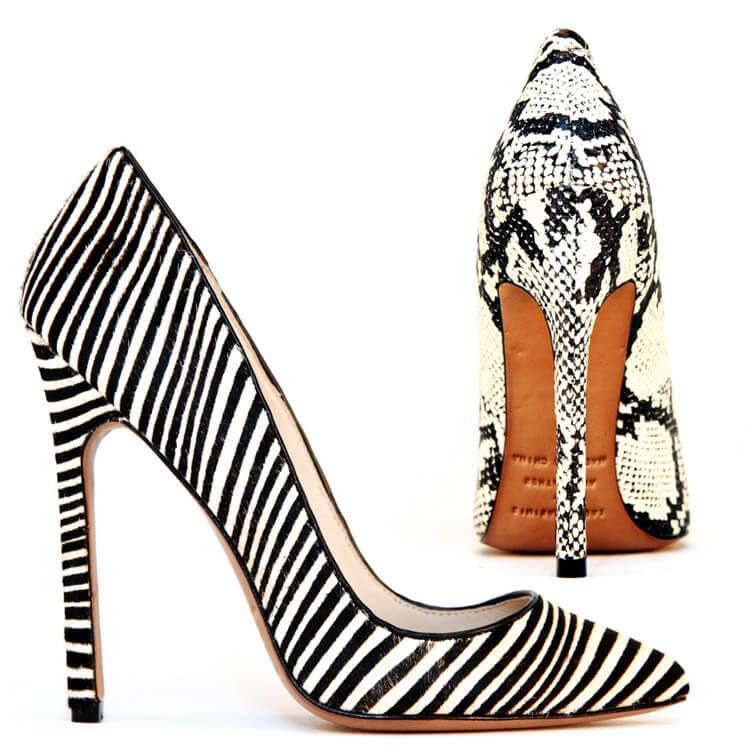 Gilda Zebra and Python Snake Pump Heel Lauren Martinis Est Magazine