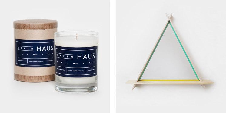 Green Haus Candle CHIAOZZA A Frame Mirror Nina Freudenberger Haus Interior Est Magazine