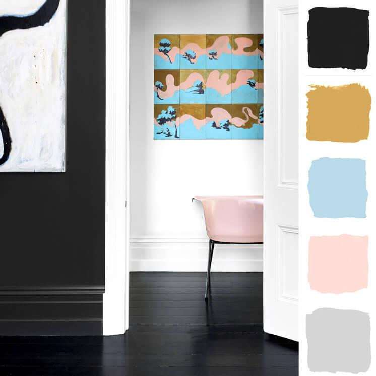 Hallway Colour Chronicles Jane and Simon Hayman Bauwerk Colour © Brooke Holm Est Magazine