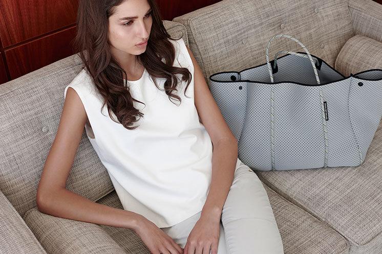 Grey bag State of Escape Est Magazine