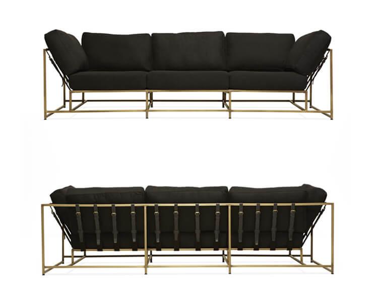 W21 Stephen Kenn Sofa Black Copper styled 746x706
