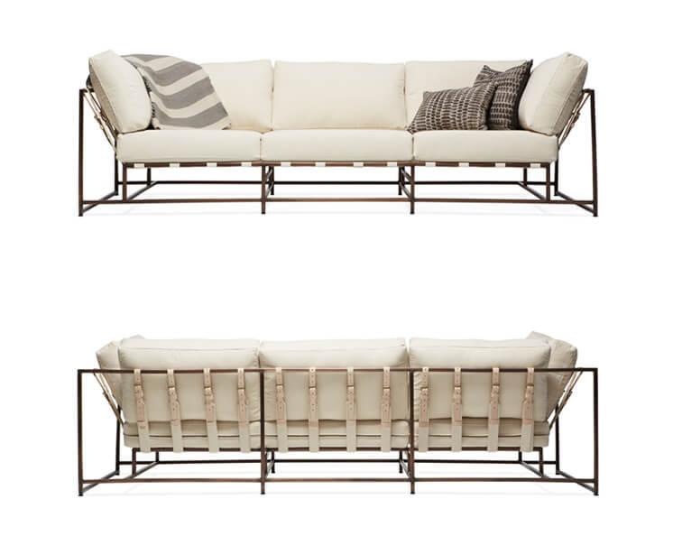 W21 Stephen Kenn Sofa NaturalCanvas Copper styled 746 706