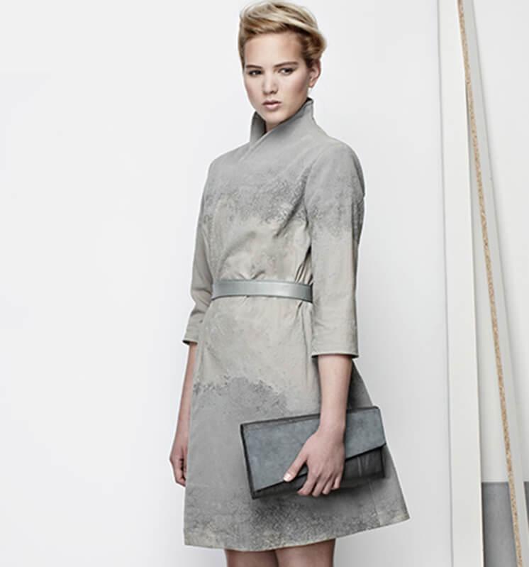 Cement Coat Dress