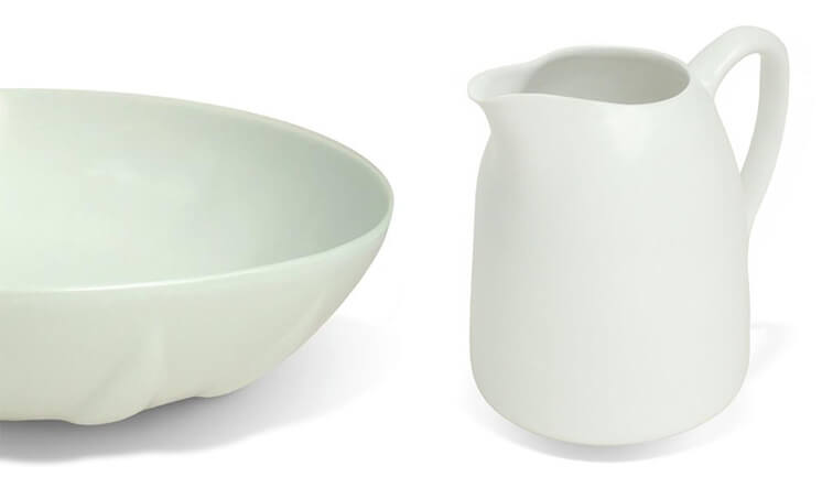 Bison White Milk Jug Large Table Bowl Est Magazine Life in style