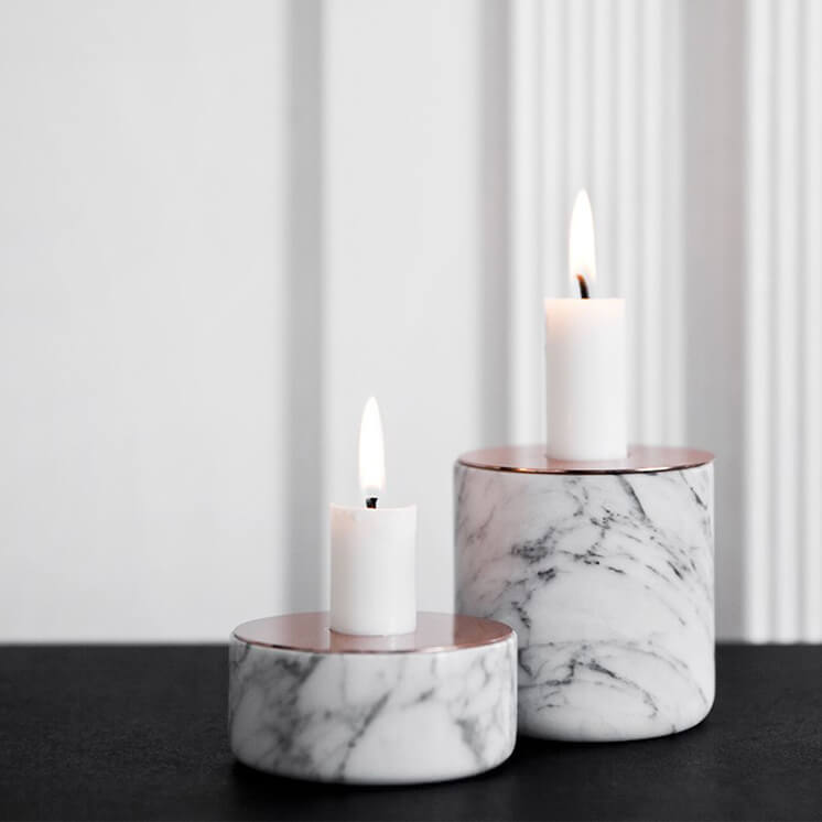Est Bedside Table Lamps Chunk of Marble by Menu