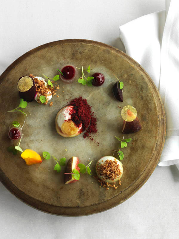 qualia bWinter Resort Getaways eetroot and goats curd fig and walnut salad