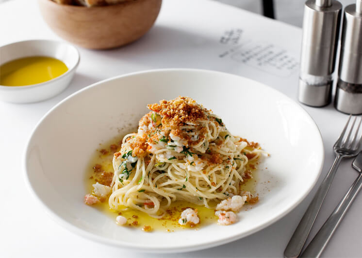 Winter Entertaining | Crab Spaghettini