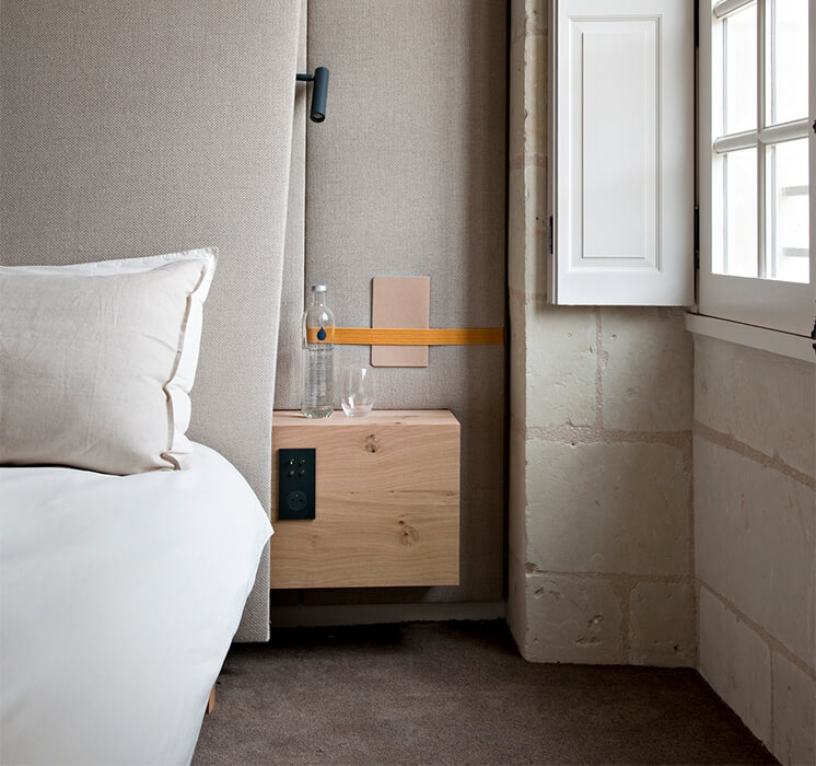 Est Magazine Abbaye de Fontevraud bedroom Nicolas Matheus 071