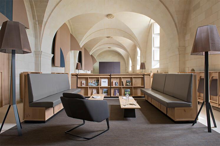 Est Magazine Abbaye de Fontevraud lobby Nicolas Matheus