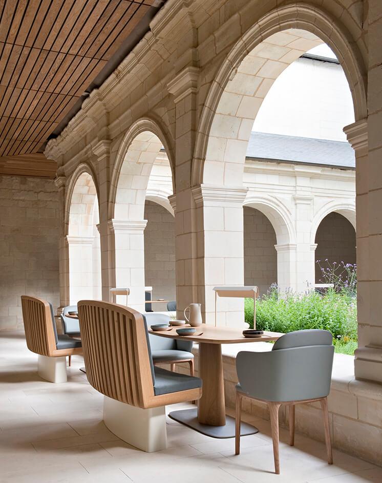 Est Magazine Abbaye de Fontevraud outdoor seating Nicolas Matheus 04