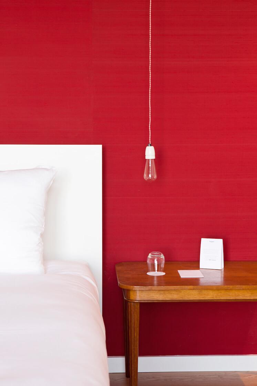 Est Magazine Vesper Hotel Holland bedroom Red