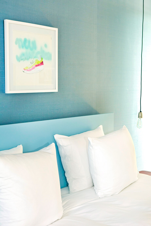 Est Magazine Vesper Hotel Holland bedroom blue