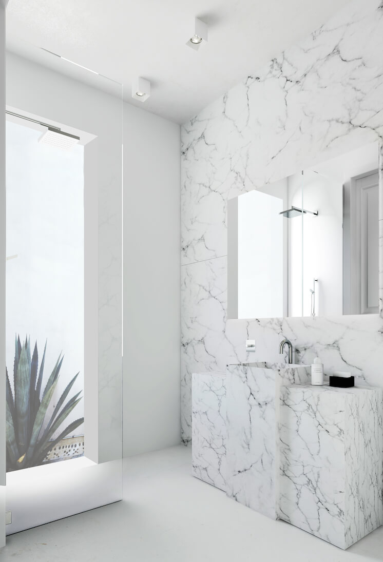 Est Magazine Katty Shiebeck Barcelona bathroom