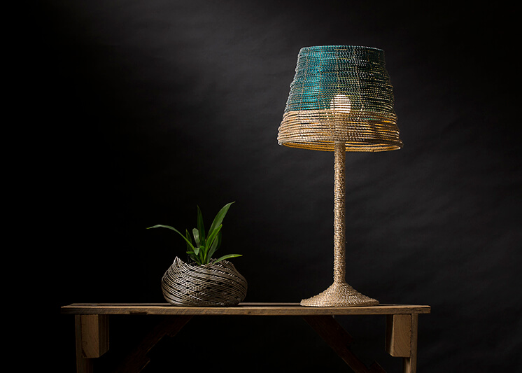 Noothera Table Lamp Turquoise Sala Verde Est Magazine feature