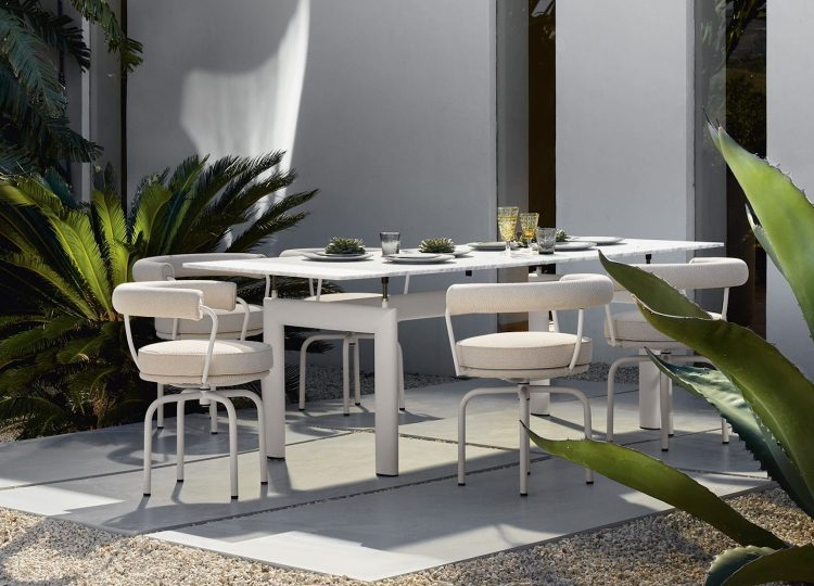 Cassina Outdoor Range by Charlotte Perriand, Le Corbusier and Pierre Jeanneret
