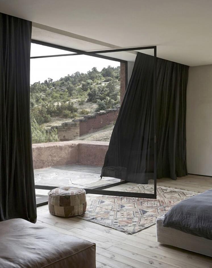 Est Magazine Villa E Morocco by Studio KO Curtain